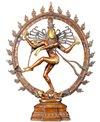 Lotus Sculpture Brass Nataraja Dancing Shiva Sculpture 25.5
