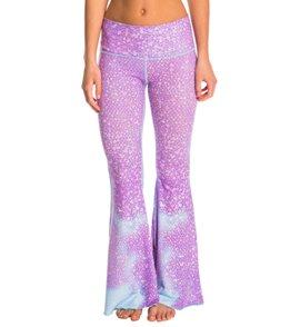 Teeki Lavender Mermaid Fairy Queen Bell Bottom Yoga Pants