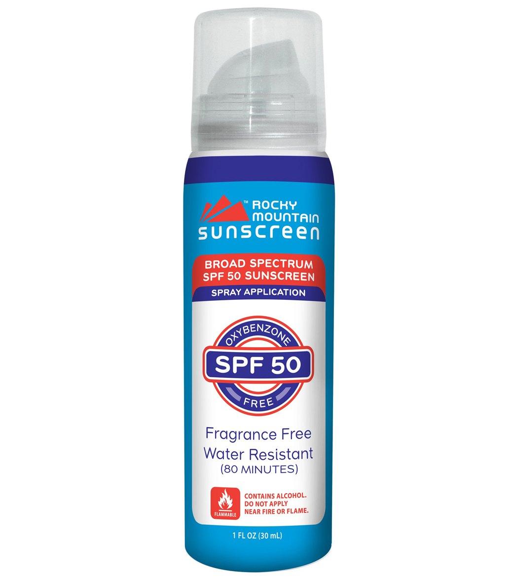 Rocky Mountain Sunscreen SPF 50 Travel Size 1oz. Spray Sunscreen ...