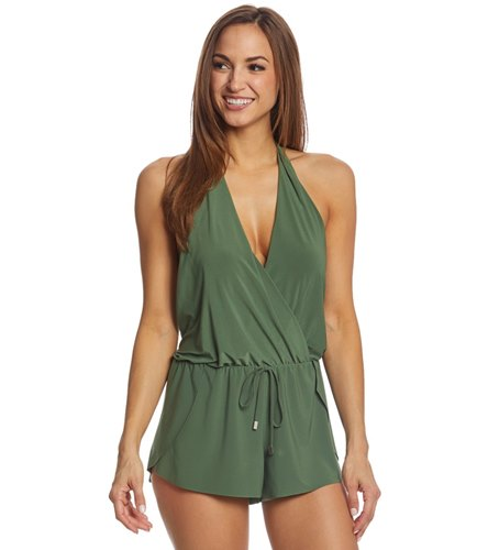 410cbfc02e4 Magicsuit by Miraclesuit Solid Bianca Swim Romper at SwimOutlet.com - Free  Shipping