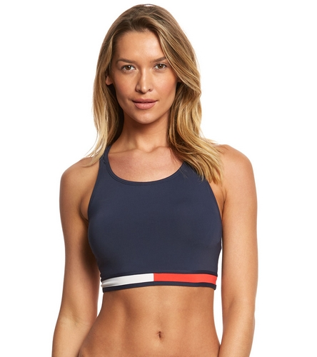 078fbf07c55d35 Tommy Hilfiger Retro Flag Crop Bikini Top at SwimOutlet.com - Free Shipping