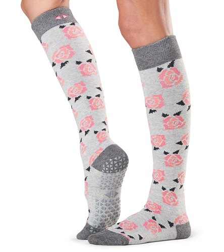 3d14e23c572 Tavi Noir Jane Knee High Barre Grip Socks at YogaOutlet.com
