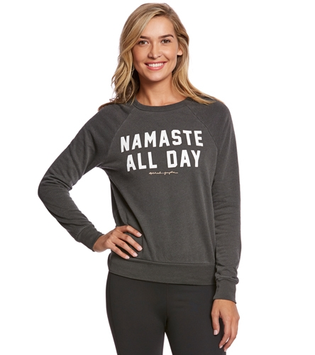 spiritual gangster namaste all day yoga pullover at