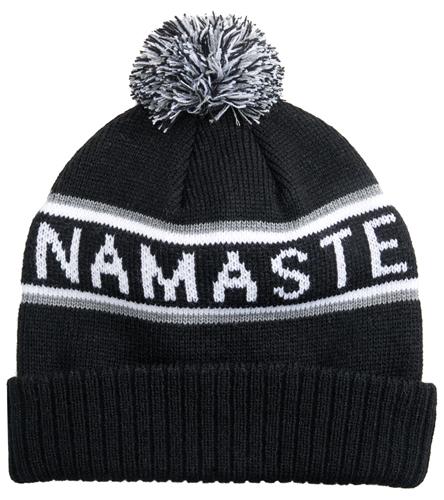 3c2963bcdf8 Spiritual Gangster Namaste Pom Pom Beanie at YogaOutlet.com