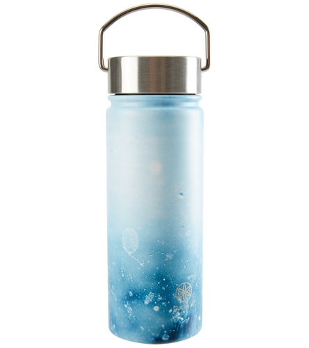 Gaiam Raindrop Print Wide Mouth Stainless Steel Water