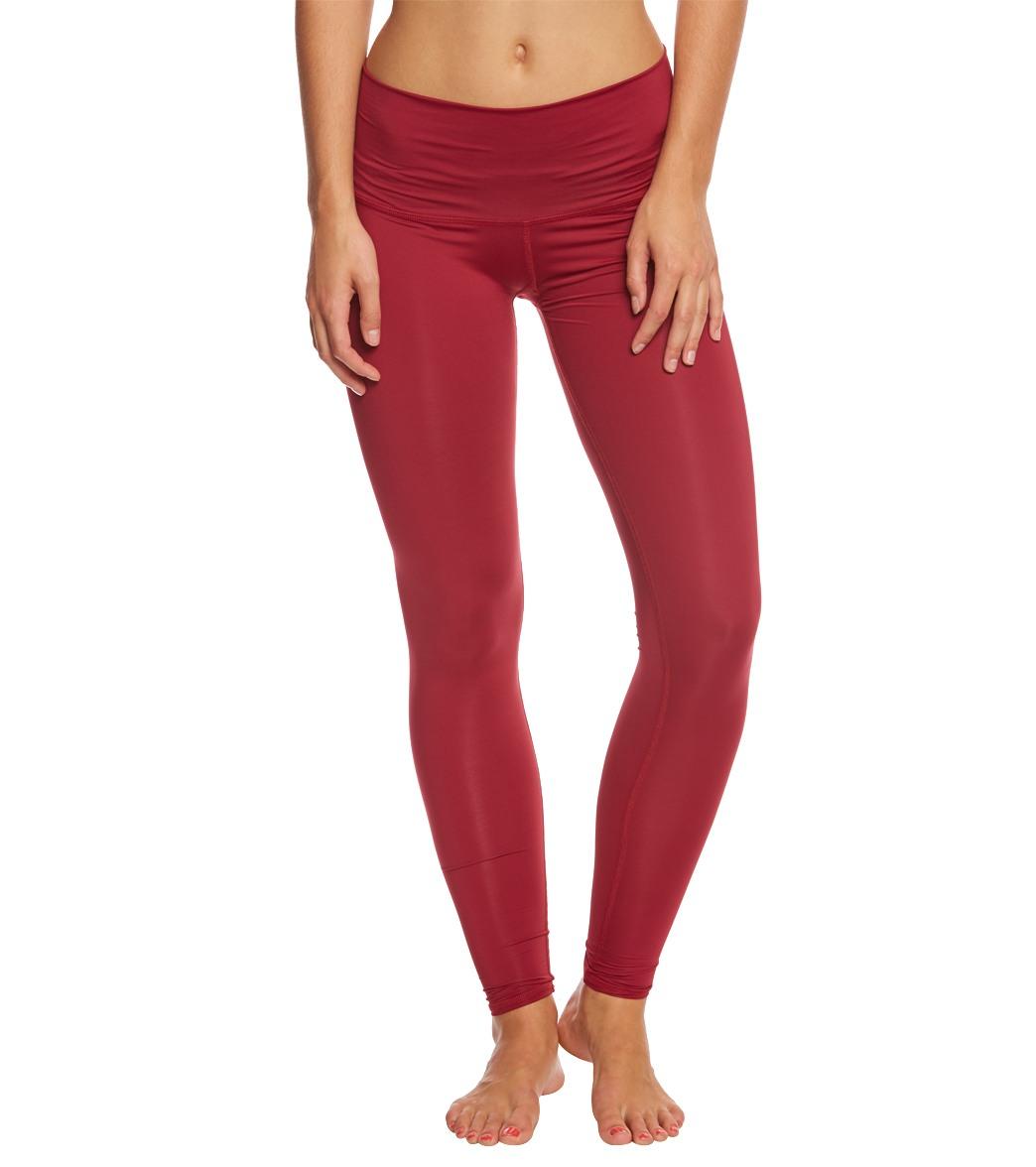 Teeki Burgundy Hot Yoga Pants At YogaOutlet.com