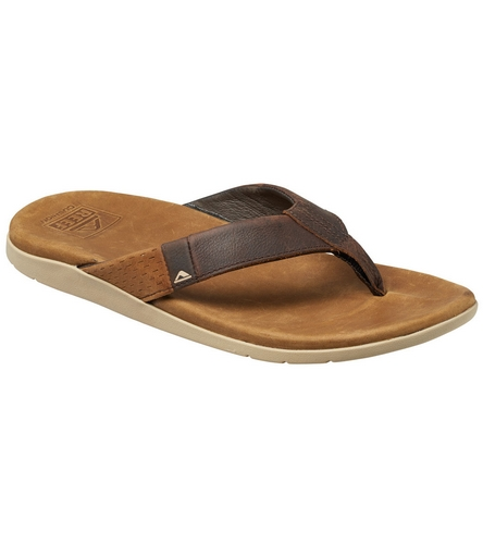 7b13928745eb Reef Men s Cushion J-Bay Leather Flip Flop at SwimOutlet.com - Free ...