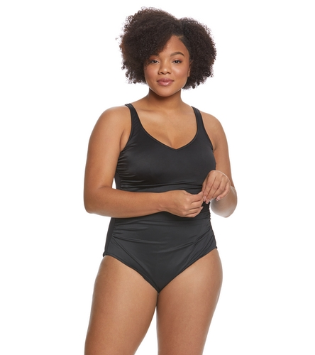 c086458abc41f Magicsuit by Miraclesuit Plus Size Steffi One Piece Swimsuit at  SwimOutlet.com - Free Shipping