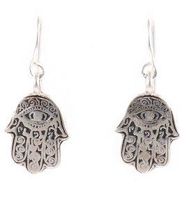 Silver & Sage Silver Hamsa Charm Earrings