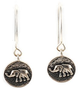 Silver & Sage Silver Ganesh Charm Earrings