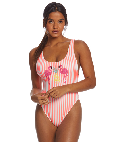 67c8554a74d12 Coco Rave Pineapple Xpress Pamela High Leg One Piece Swimsuit at  SwimOutlet.com - Free Shipping
