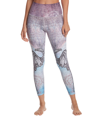 d5238ccd005a6 EVCR Elephant Unity High Waisted 7/8 Yoga Leggings at YogaOutlet.com