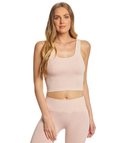 NUX Be Free Mineral Wash Seamless Yoga Crop Top At