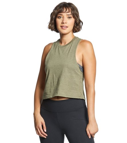 Bella + Canvas Racerback Crop Tank  by Yoga Outlet
