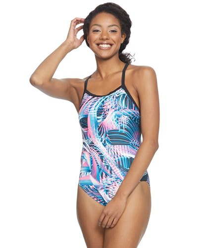 8c8126a1a7 Nike Women s Whirl Crosssback One Piece Swimsuit at SwimOutlet.com - Free  Shipping