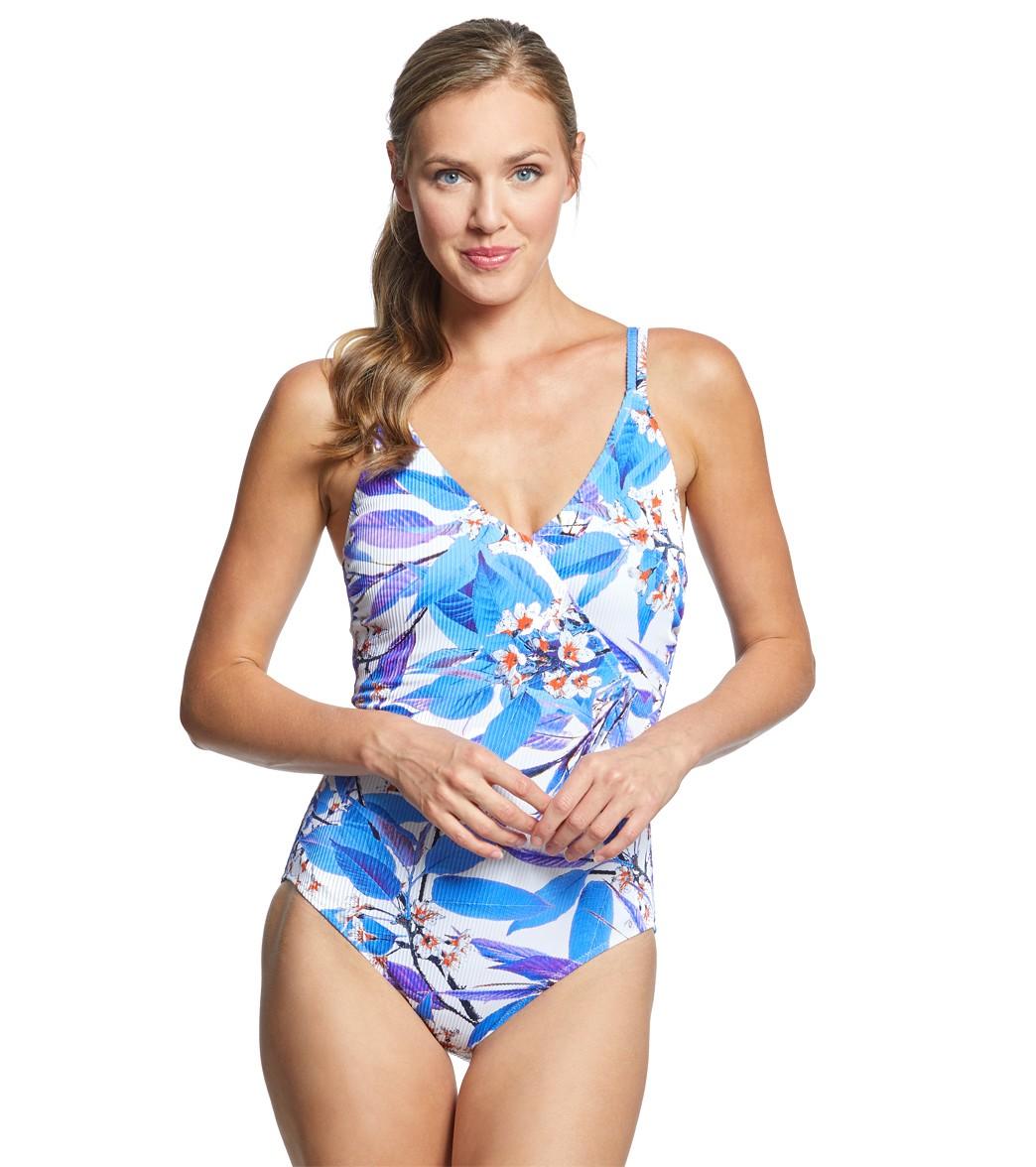 1e700fc61 Gottex Sakura Surplice One Piece Swimsuit (D Cup) at SwimOutlet.com ...