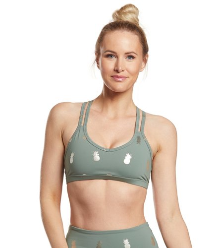 1f5bf0e00c Beyond Yoga Pineapple Double Back Yoga Sports Bra at YogaOutlet.com ...