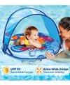 Aqua Leisure Self-Inflating Fabric Baby Boat With Canopy