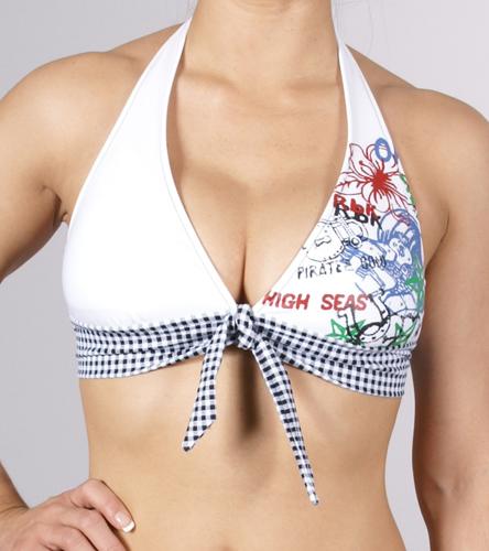 Wide band halter bikini