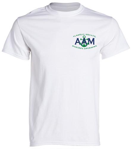 AAM Shirt-White - SwimOutlet Men's Cotton Crew Neck T-Shirt