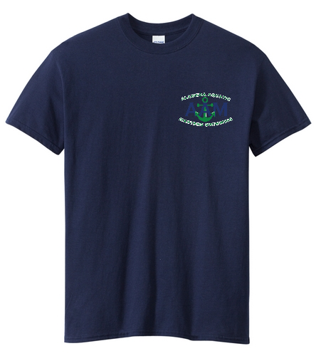 AAM Shirt-Navy - SwimOutlet Men's Cotton Crew Neck T-Shirt