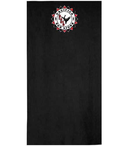 Pacifica Sea Lions Embroidered Towel Black - Royal Comfort Terry Velour Beach Towel 32 X 64