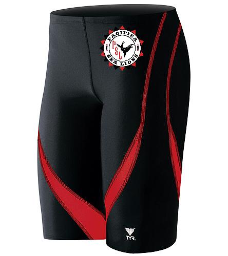 Pacifica Sea Lions Team Logo Male Suit - TYR Men's Alliance Splice Jammer Swimsuit