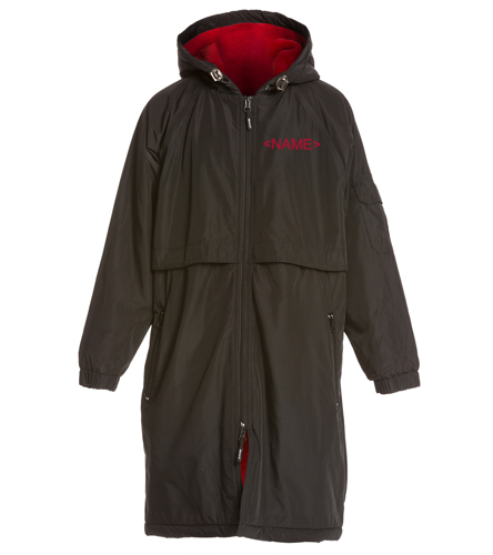Pacifica Sea Lions Youth Parka - Black - embroidered name and logo included - Sporti Comfort Fleece-Lined Swim Parka Youth