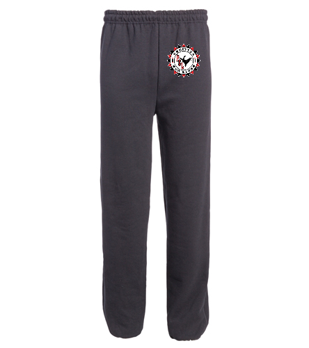 Pacifica Sea Lions ADULT Sweat Pant - Embroidered - Black - SwimOutlet Heavy Blend Unisex Adult Open Bottom Sweatpants