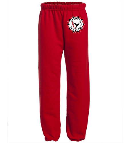 Pacifica Sea Lions YOUTH Sweat Pants - Embroidered - Red - SwimOutlet Heavy Blend Youth Sweatpant