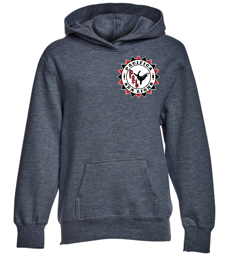 Pacifica Sea Lions YOUTH Sweatshirt - Embroidered - Gray - SwimOutlet Youth Fan Favorite Fleece Pullover Hooded Sweatshirt