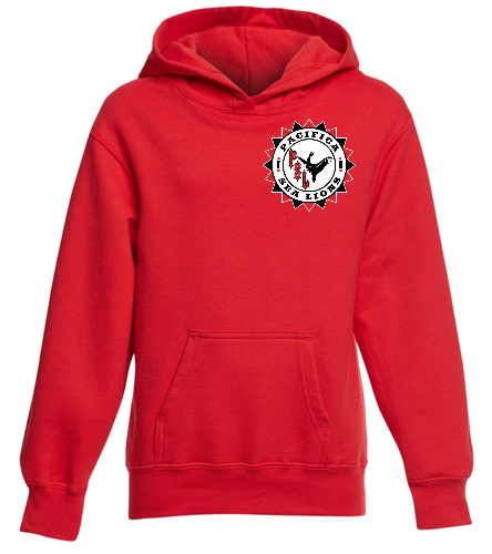 Pacifica Sea Lions YOUTH Sweatshirt - Embroidered - Red - SwimOutlet Youth Fan Favorite Fleece Pullover Hooded Sweatshirt