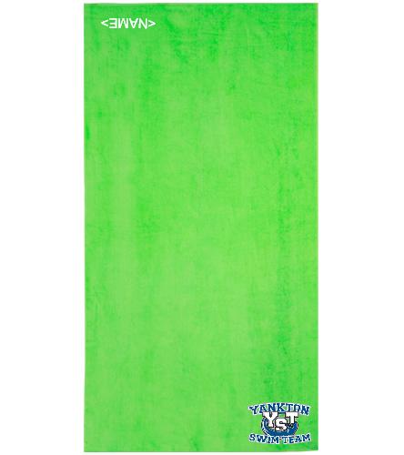 Yankton Lime Green - Royal Comfort Terry Velour Beach Towel 32 X 64