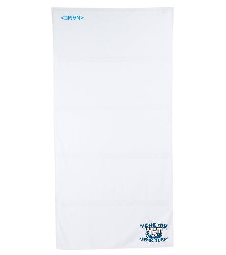 Yankton White - Royal Comfort Terry Velour Beach Towel 32 X 64