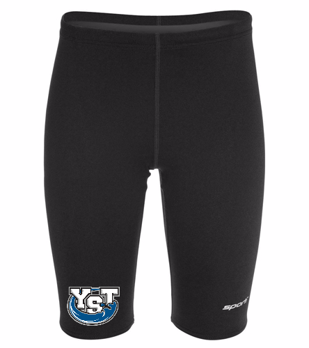 Youth Yankton Black - Sporti Poly Pro Solid Jammer Swimsuit Youth (22-28)