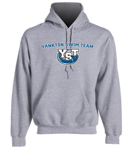 Adult Yankton Grey  -  Heavy Blend Adult Hooded Sweatshirt