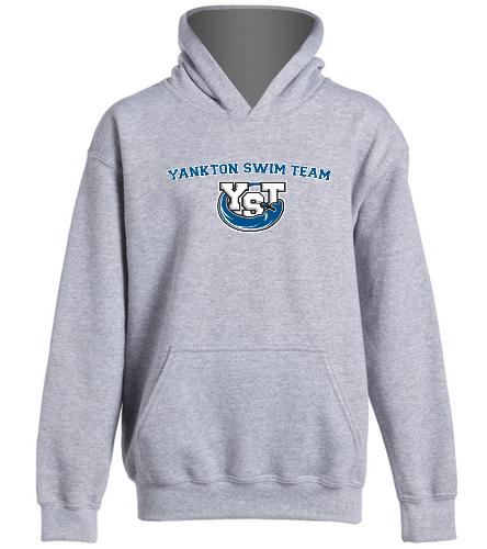 Youth Yankton Grey  -  Heavy Blend Youth Hooded Sweatshirt