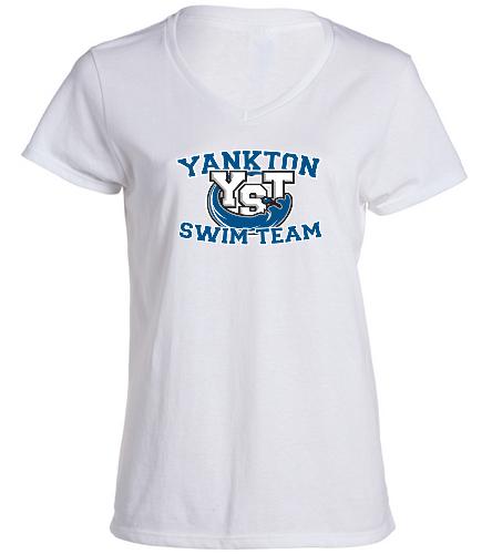Yankton White  -  Ladies V-Neck