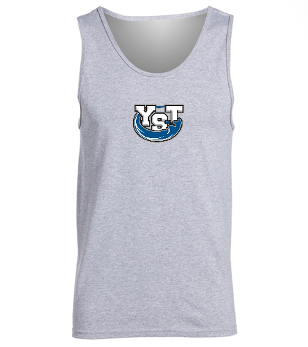 Yankton Grey w/ front and back logo -  Ultra Cotton Adult Tank Top