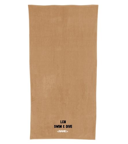 LCN (Tan) - Royal Comfort Terry Velour Beach Towel 32 X 64