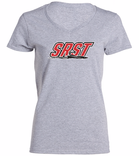 SRST - SwimOutlet Women's Cotton V-Neck T-Shirt