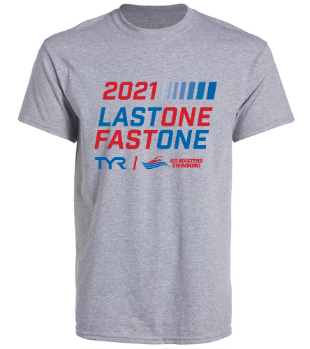 USMS 2021 TYR Last One Fast One  - SwimOutlet Unisex Cotton Crew Neck T-Shirt