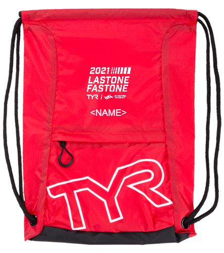USMS 2021 TYR Last One Fast One  - TYR Draw String Sack Pack