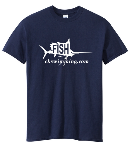 Navy Fish Tee - Heavy Cotton Adult T-Shirt