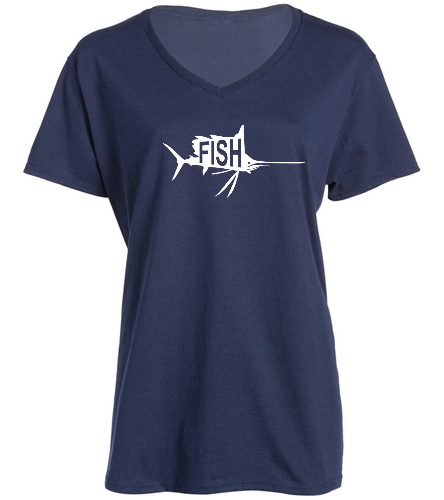 Ladies Navy V-Neck -  Ladies V-Neck