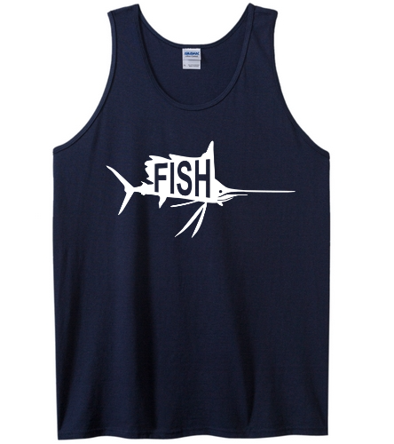 Navy Tank -  Ultra Cotton Adult Tank Top
