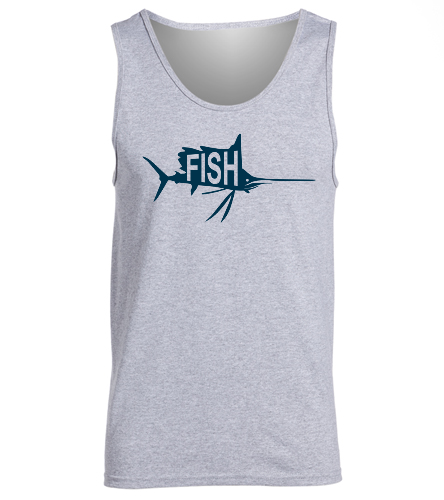 Grey Tank -  Ultra Cotton Adult Tank Top