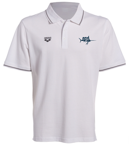 White Fish Polo  - Arena Chassis Unisex Polo Shirt