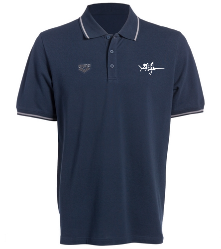 Navy Fish Polo - Arena Chassis Unisex Polo Shirt