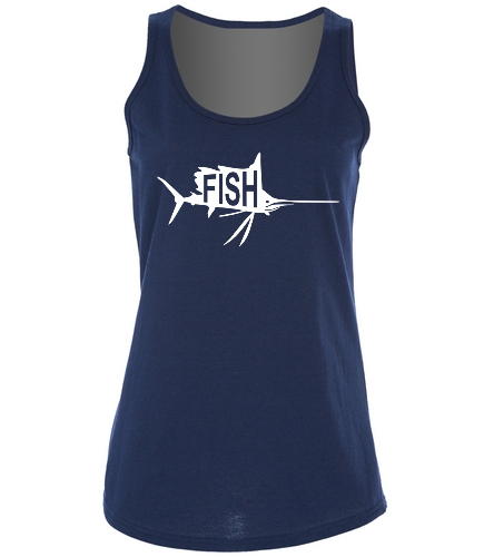 Ladies Navy Tank -  Ladies 5.4-oz 100% Cotton Tank Top
